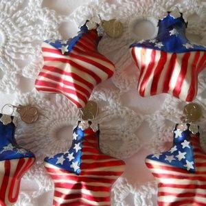 Mini Patriotic Country Glass Ornaments